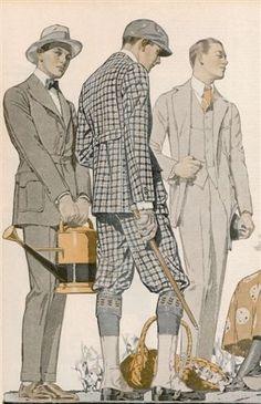 Mens Afternoon Fashion, ca. 1910-1919.