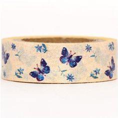 light yellow Washi Masking Tape deco tape butterfly: Amazon.co.uk: Toys & Games