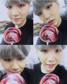 "Suga says ""Happy White Day! Eats lots of candies!"""