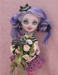 Китти Чешир (ООАК Мадам Бу) / Куклы My Scene, Monster High, Монстер Хай от Mattel / Бэйбики. Куклы фото. Одежда для кукол