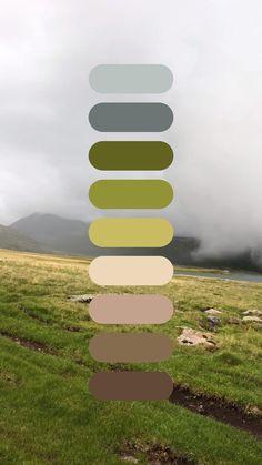 Green Color Pallete, Color Schemes Colour Palettes, Wedding Color Schemes, Green Colors, Color Combos, Colours, Palette Pantone, Home Design, Web Design