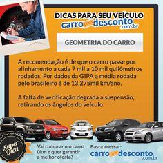 Dica de hoje do www.carrocomdesconto.com.br para o seu veículo: Geometria do Carro.