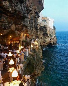 One of the most romantic hotel from Polignano, Italy! #Travel #hotel #italy #ItalyTravel