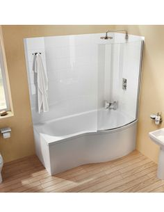 Cleargreen Ecoround Left Handed Shower Bath 1500mm X 900mm