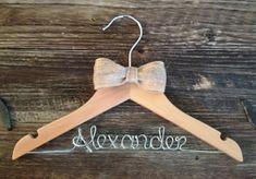 Personalized Boy Hanger / Children's Hanger / by GetHungUp Childrens Hangers, Kids Hangers, Diy Wedding Hangers, Ring Bearer Gifts, Light Oak, Wedding Season, Photo Props, No Response