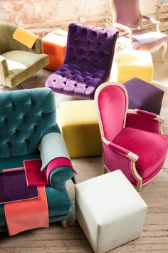 bright, bold upholstery