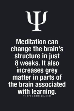 Meditation can change the brain's structure in just 8 weeks...