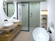 betonlook ideaal interieur in . Modern Luxury Bathroom, Modern Bathroom Decor, Beautiful Bathrooms, Bathroom Color Schemes, Bathroom Tile Designs, Bathroom Interior Design, Loft Bathroom, Bathroom Renos, Bad Inspiration