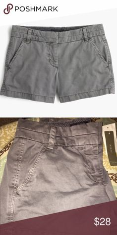 """J. Crew 4"""" Chino Short NWT J. Crew 4"""" Chino Short in Storm Gray size 00.  In perfect condition! J. Crew Shorts"""
