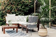 Patio For Lounging Ikea Applaro Outdoor Seating - A Paved Patio With Global Inspired Accents. Image By Adam CrohillIkea Applaro Outdoor Seating - A Paved Patio With Global Inspired Accents. Image By Adam Crohill Ikea Outdoor, Patio Ikea, Ikea Patio Furniture, Garden Furniture Design, Diy Outdoor Furniture, Patio Chairs, Outdoor Seating, Outdoor Sofa, Furniture Ideas