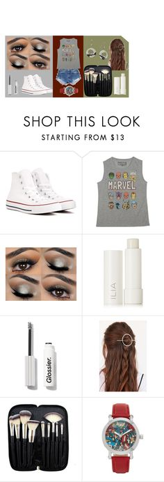 """Marvel"" by mferreira0403 on Polyvore featuring Levi's, Converse, Marvel, Ilia, Urban Outfitters, Morphe and marvel"