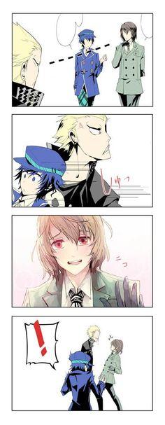 persona 4, persona 5, and kanji tatsumi image