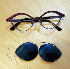 e246ba2664 Beautiful Roger Design Eyewear with a custom made clip-on. Custom Made