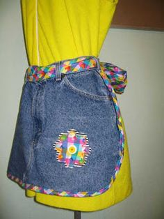 "Suzanne's Crazy For Collars: ONE PAIR OF ""MOMMY"" JEANS: 4 NEW APRONS: PART 2"