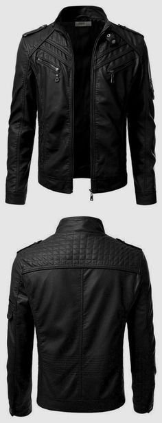 New Men's Jackets. Jackets can be a crucial part of every single man's clothing collection. Men require outdoor jackets for a variety of circumstances and several climate conditions. Men's Coats And Jackets, Cool Jackets, Biker Jackets, Stylish Jackets, Motorcycle Jacket, Black Jackets, Casual Jackets, Lambskin Leather Jacket, Leather Men