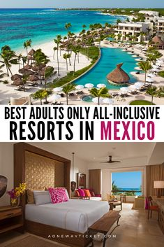 Mexico has some of the world's best beaches, whether in Cabo or Cancun! Check out my picks for the best adults only all-inclusive resorts in Mexico. Cancun Mexico Resorts, All Inclusive Mexico, Cozumel Mexico, Mexico Vacation, Vacation Resorts, Mexico Travel, Hotels In Mexico, Best Beaches In Mexico, Puerto Vallarta Resorts