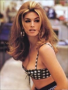 Flashback Friday.  Back when models were super. I love how full & thick Ms Cindy's hair looks. The 90s!!!!