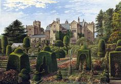 The Elizabethan Hall and garden at Levens (sometimes spelled Leavens). Alas, nary a Levens nor Leavens actually lived here, but I can claim ...
