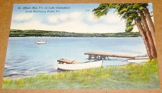 Postcard VT St Albans Bay Hathaway Point Lake Champlain Vermont 1961