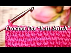 """Get The Classic Look With This Crocheted """"Knit"""" Stitch!! – Crafty House"""