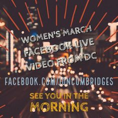 """#WomensMarch via #FacebookLive from #DC  The response to my live videos from the inauguration today was inspiring. It was great learning for me too. I hope you will March wherever you are and if you get the chance please checkout http://ift.tt/2juN2JV Peace! (And """"ignore alien orders"""")"""