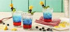 Happy and Safe Memorial Weekend to All! Citrus-Spangled Spritzer 1 part Pinnacle® Citrus Vodka 1 part DeKuyper® Blue Curacao  2 parts Lemon Soda 1 part Grenadine  Lightly mix vodka & lemon soda in cocktail shaker with ice & set aside. In a tall glass, add grenadine slowly to bottom. Fill glass with crushed ice. Strain vodka soda mixture over the back of a bar spoon, followed by the blue curacao. Garnish with fresh mint, lemon rind star and blueberries.
