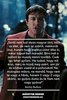 No one can beat as big as LIFE . ♡- Senki nem tud olyan nagyot ütni, mint az ÉLET…♡ No one can beat as big as LIFE … ♡ - Positive Affirmations, Positive Quotes, Best Quotes, Life Quotes, Daily Wisdom, Gym Quote, Rocky Balboa, Learning Quotes, Proud Of You