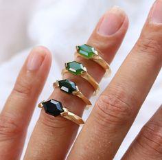 Pounamu Greenstone Rings by Courtney Marama Jewellery New Zealand Jewellery, Triangle Ring, Jade Ring, Handcrafted Jewelry, Handmade, Contemporary Jewellery, Precious Metals, Wedding Bands, Usb Flash Drive