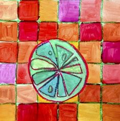 Citrus fruits in complementary colors Color Wheel Art, Fruit Art Kids, Art Lesson Plans, Art Classroom, Color Theory, Preschool Activities, Art Lessons, Art For Kids, Art Projects