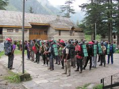 Basic #Mountaineering Course - Fall-in is a practise of giving general instructions to the Trainees