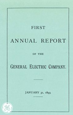 We published our first annual report 120 years ago! #vintage #GE #nostalgia