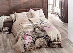 100% Cotton High Quality 3pcs Twin Single Paris New York Bedding Duvet Cover Set #Handmade