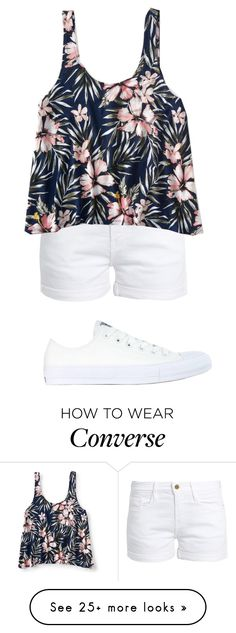 """"""""""" by paris-is-for-me on Polyvore featuring Frame, Aéropostale and Converse"""