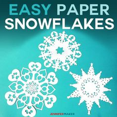 Use my free paper snowflake templates to make easy and jaw-dropping snowflakes and decorate your home inexpensively for Christmas!