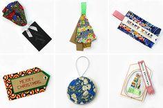 Liberty print gift tags for Christmas