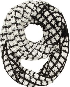 Black and white grid snood on shopstyle.co.uk