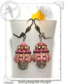 Mornala beaded earrings PDF pattern by EwaHotBeads on Etsy