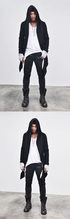 Outerwear :: Re)Avant-garde Diabolic Gothicesque Cape-Coat 21 - Mens Fashion Clothing For An Attractive Guy Look