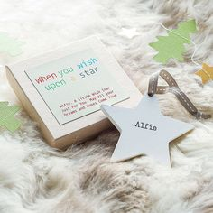 I've just found Personalised Wooden Wish Star. This lovely personalised wish star makes a sweet and heart-warming gift.. £10.50