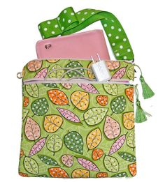 Square Cover for eReaders with Wristlet and zip pocket