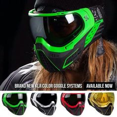KLR Color goggle systems!!! YES PLEASE, I'll take the Red one!!!