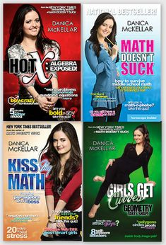 The Danica McKellar Math Collection - these books are amazing! She shows different ways to work out problems with algebra, geometry, all sorts of math! I'd recommend these for any teacher or student intern!