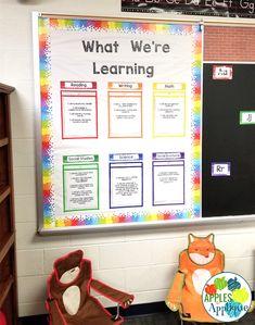 First Grade Classroom Reveal! Classroom Whiteboard, Classroom Layout, Classroom Walls, First Grade Teachers, First Grade Classroom, New Classroom, Classroom Design, Classroom Themes, Classroom Organization