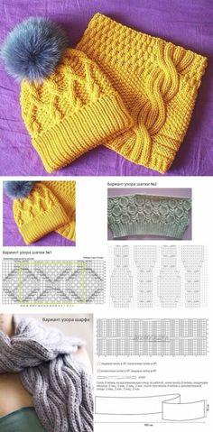 Sweater Knitting Patterns, Knitting Stitches, Knitting Yarn, Knitting Charts, Crochet Beret, Crochet Cap, Baby Hats Knitting, Knitted Hats, Braid Patterns