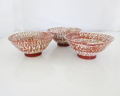 Vintage Dipping Bowls Set of 3 Prep Bowls Handmade Dessert Bowls Small Ceramic Bowls Textured Stoneware Bowls Earthenware Gift