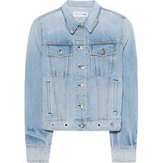 RAG&BONE Jean Jacket Avenida Eylt // Denim jacket with studs (22.880 RUB) ❤ liked on Polyvore featuring outerwear, jackets, coats, coats & jackets, tops, slim fit jackets, blue jackets, rag bone jacket, distressed jean jacket and studded jean jacket