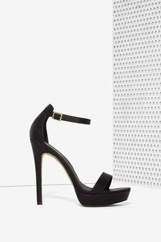Lipstik Shoes Nadine Vegan Leather Platform - Black - Shoes