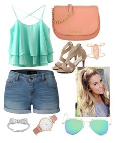"""""""Schools Out"""" by ekjohnson1216 on Polyvore featuring LE3NO, Michael Kors, Kendra Scott and Larsson & Jennings"""