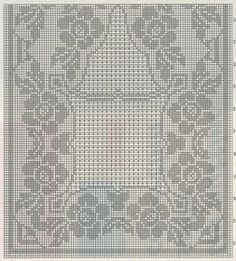 Rectangular tablecloth with roses