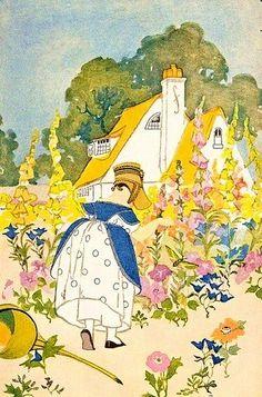 :: Sweet Illustrated Storytime ::  Illustration of little garden girl